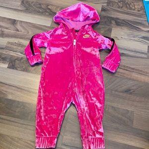 Nike 9m Pink Velour Jumpsuit